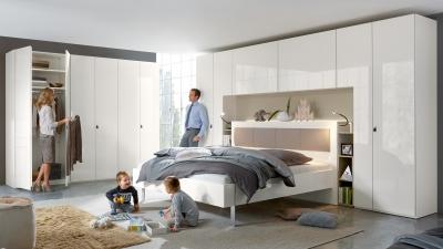 Slaapkamer, Bridge, bed, kledingkast, slapen, comfort, opbergen